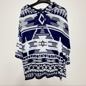 H&M Divided Aztec Pattern Hoodie/Pullover